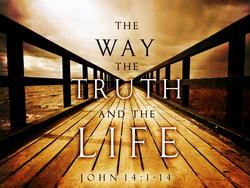 """""""เราเป็นหนทาง ความจริง และชีวิต"""" (ยน. 14:6)"""
